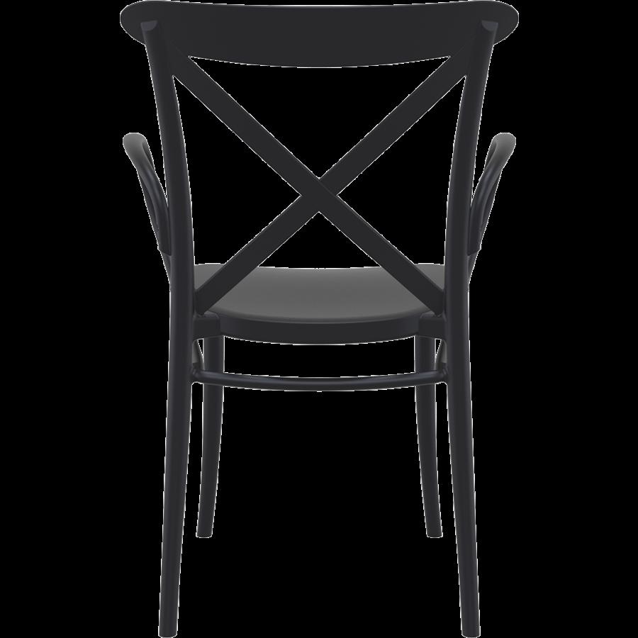 Tuinstoel - Stapelbaar - Zwart - Cross XL - Siesta-5
