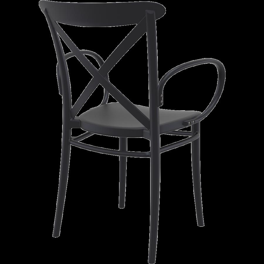 Tuinstoel - Stapelbaar - Zwart - Cross XL - Siesta-6