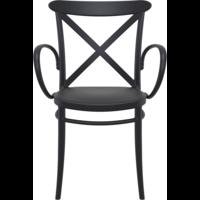 thumb-Tuinstoel - Stapelbaar - Zwart - Cross XL - Siesta-2