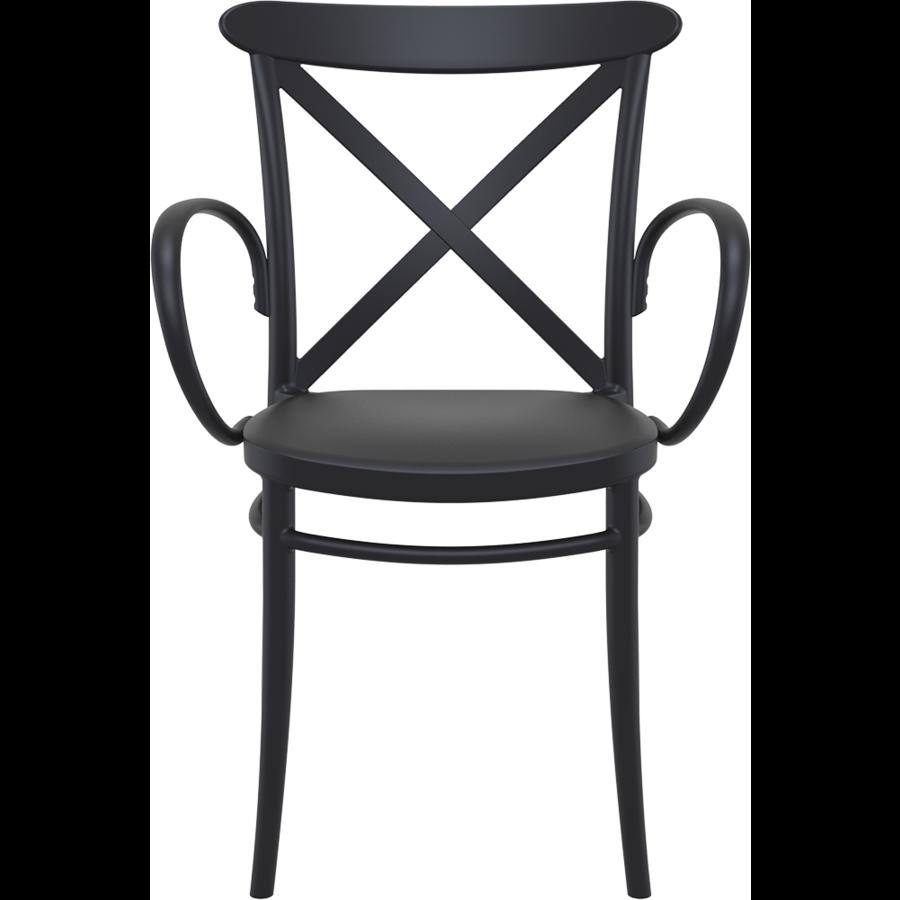 Tuinstoel - Stapelbaar - Zwart - Cross XL - Siesta-2