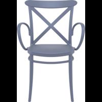 thumb-Tuinstoel - Stapelbaar - Donkergrijs  - Cross XL - Siesta-2