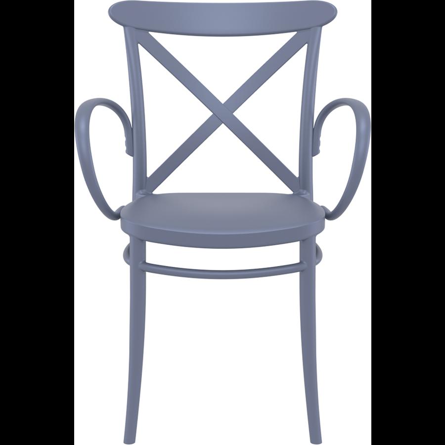 Tuinstoel - Stapelbaar - Donkergrijs  - Cross XL - Siesta-2