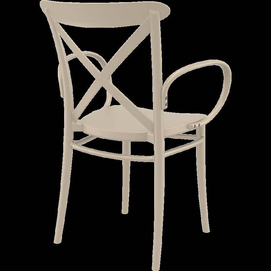 Tuinstoel - Stapelbaar - Taupe - Cross XL - Siesta-7
