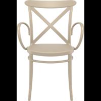 thumb-Tuinstoel - Stapelbaar - Taupe - Cross XL - Siesta-2