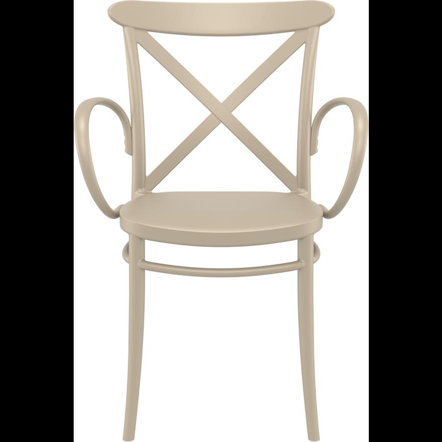 Tuinstoel - Stapelbaar - Taupe - Cross XL - Siesta-2