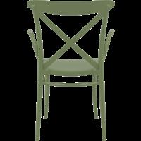 thumb-Tuinstoel - Stapelbaar - Olijf Groen - Cross XL - Siesta-4