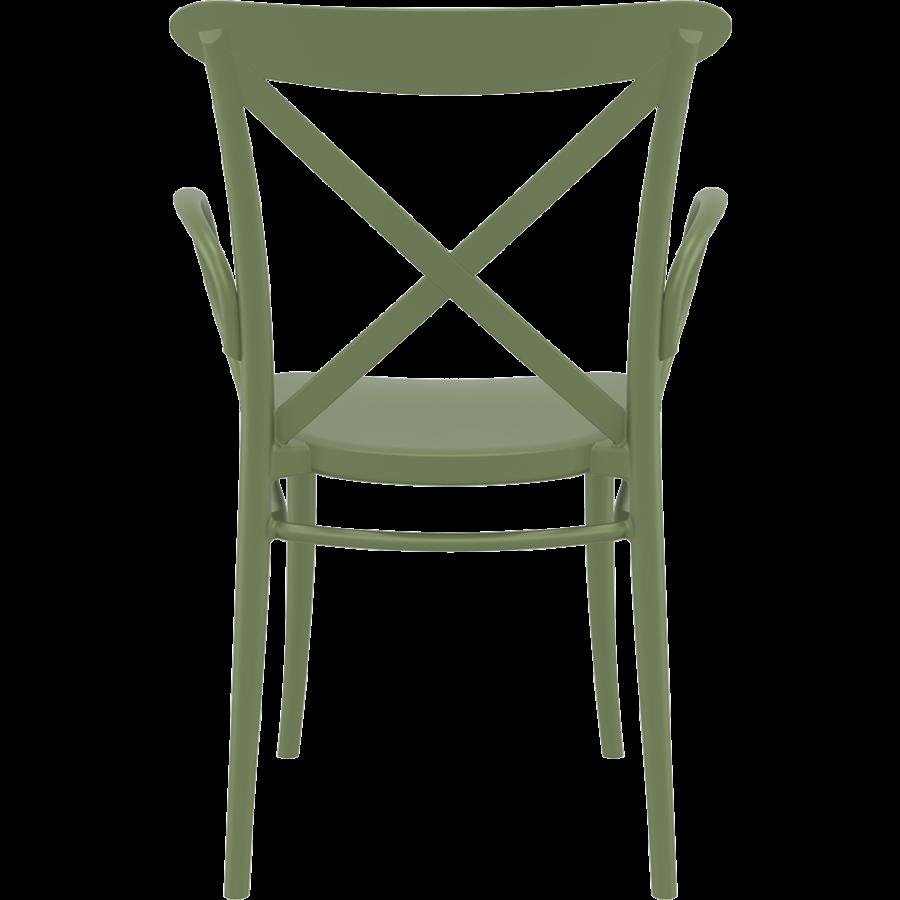 Tuinstoel - Stapelbaar - Olijf Groen - Cross XL - Siesta-4