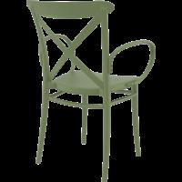 thumb-Tuinstoel - Stapelbaar - Olijf Groen - Cross XL - Siesta-5