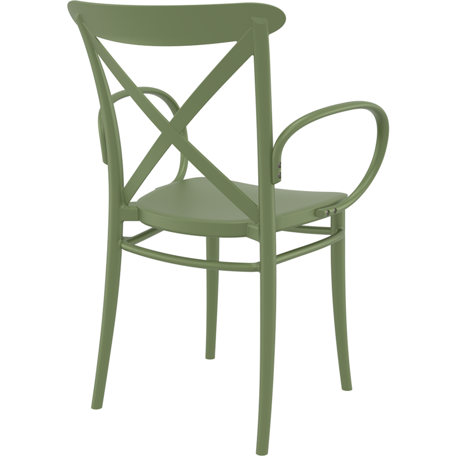 Tuinstoel - Stapelbaar - Olijf Groen - Cross XL - Siesta-5