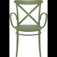 thumb-Tuinstoel - Stapelbaar - Olijf Groen - Cross XL - Siesta-2