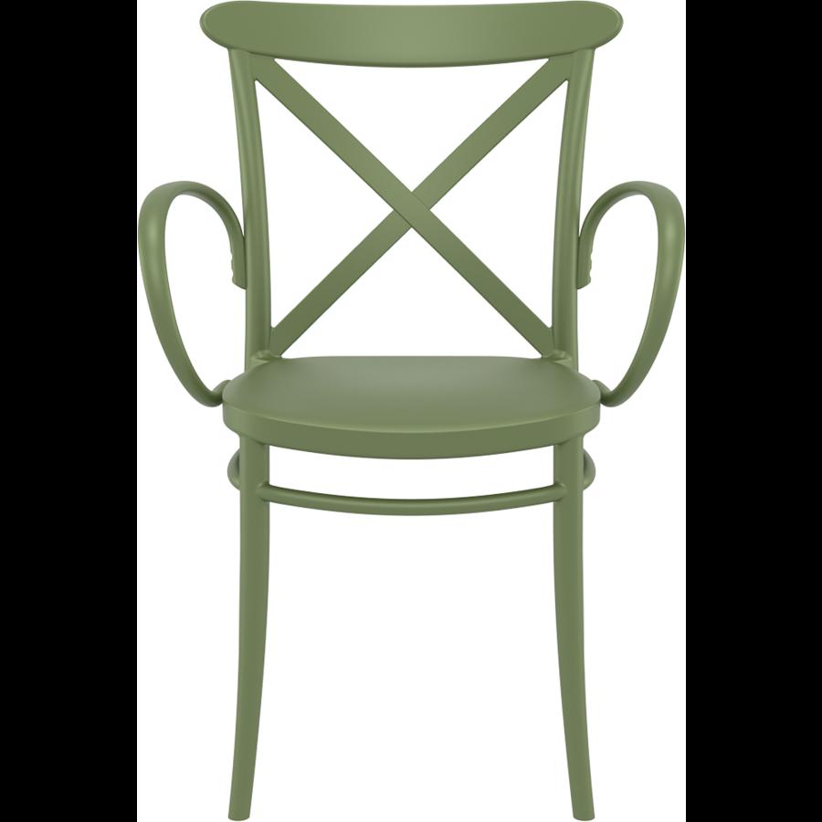 Tuinstoel - Stapelbaar - Olijf Groen - Cross XL - Siesta-2