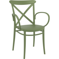 Tuinstoel - Stapelbaar - Olijf Groen - Cross XL - Siesta