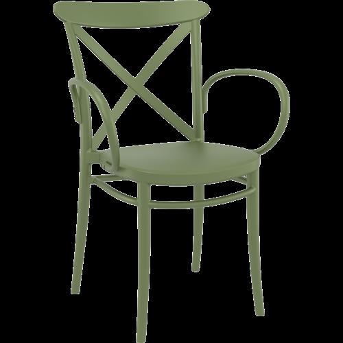 Siesta  Tuinstoel - Stapelbaar - Olijf Groen - Cross XL - Siesta