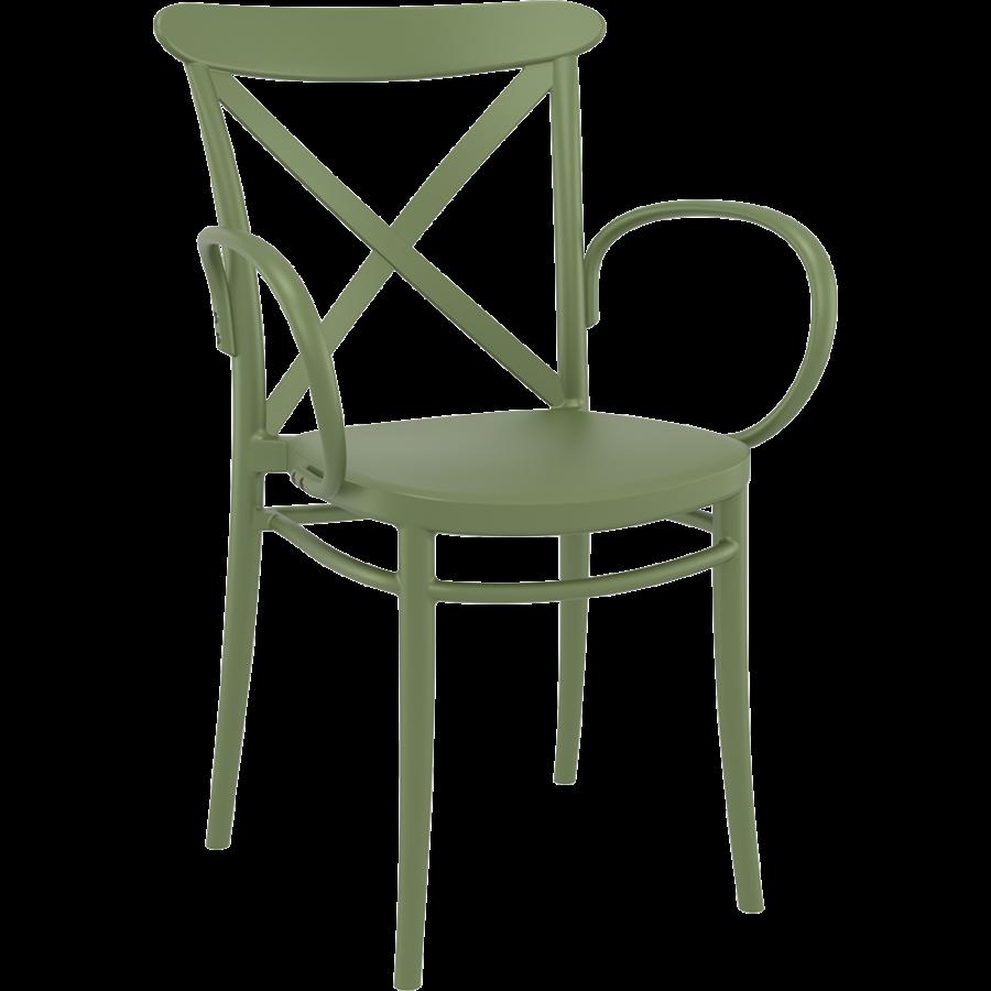 Tuinstoel - Stapelbaar - Olijf Groen - Cross XL - Siesta-1