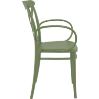 thumb-Tuinstoel - Stapelbaar - Olijf Groen - Cross XL - Siesta-6