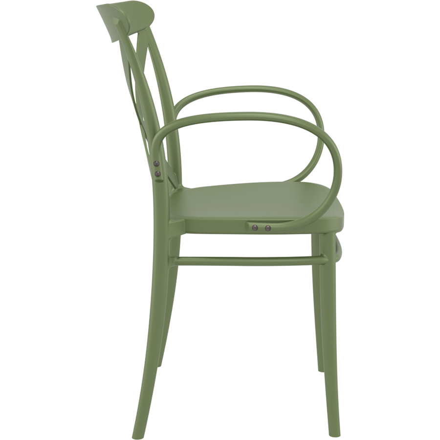 Tuinstoel - Stapelbaar - Olijf Groen - Cross XL - Siesta-6
