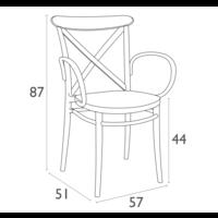 thumb-Tuinstoel - Stapelbaar - Wit - Cross XL - Siesta-10