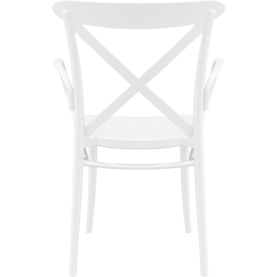 Tuinstoel - Stapelbaar - Wit - Cross XL - Siesta-5