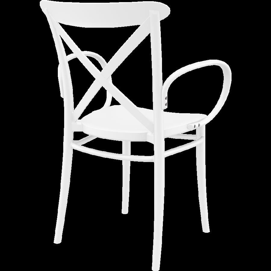 Tuinstoel - Stapelbaar - Wit - Cross XL - Siesta-6