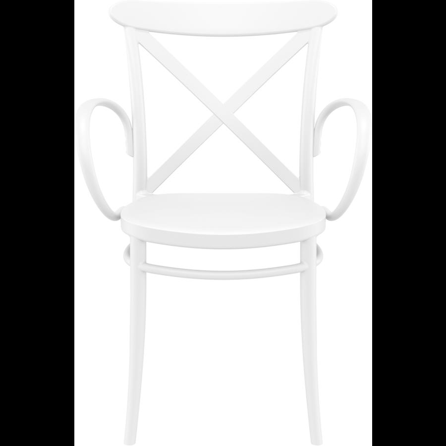 Tuinstoel - Stapelbaar - Wit - Cross XL - Siesta-2