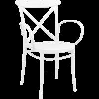 Tuinstoel - Stapelbaar - Wit - Cross XL - Siesta