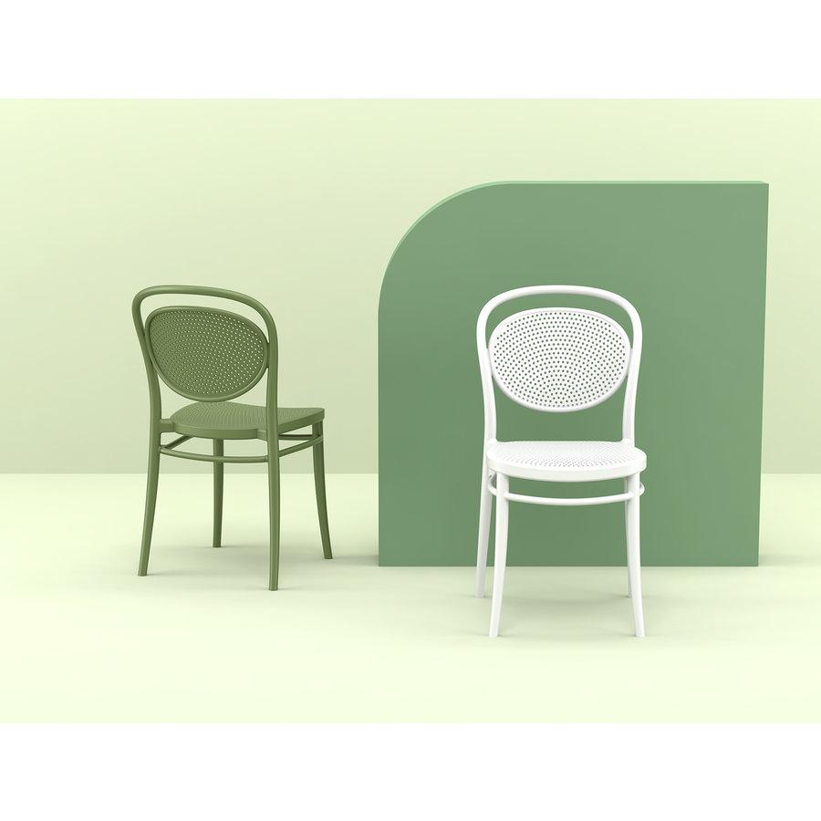 Tuinstoel - Stapelbaar - Wit - Marcel - Siesta-4