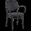 Siesta  Tuinstoel - Stapelbaar - Zwart - Marcel XL - Siesta