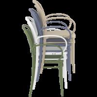 thumb-Tuinstoel - Stapelbaar - Wit - Marcel XL - Siesta-8