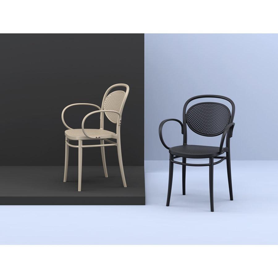 Tuinstoel - Stapelbaar - Wit - Marcel XL - Siesta-3
