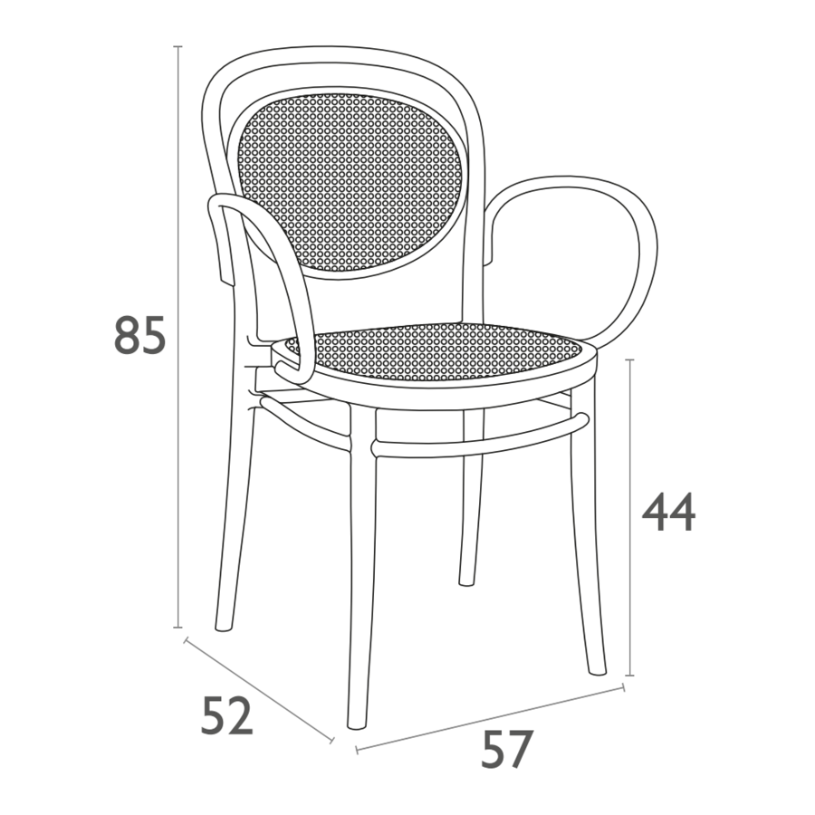 Tuinstoel - Stapelbaar - Wit - Marcel XL - Siesta-10