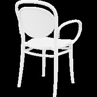thumb-Tuinstoel - Stapelbaar - Wit - Marcel XL - Siesta-6