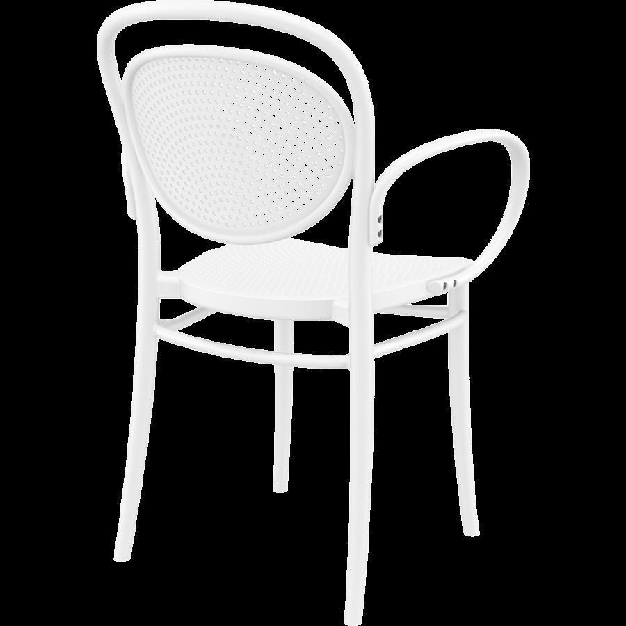 Tuinstoel - Stapelbaar - Wit - Marcel XL - Siesta-6
