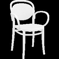 Tuinstoel - Stapelbaar - Wit - Marcel XL - Siesta
