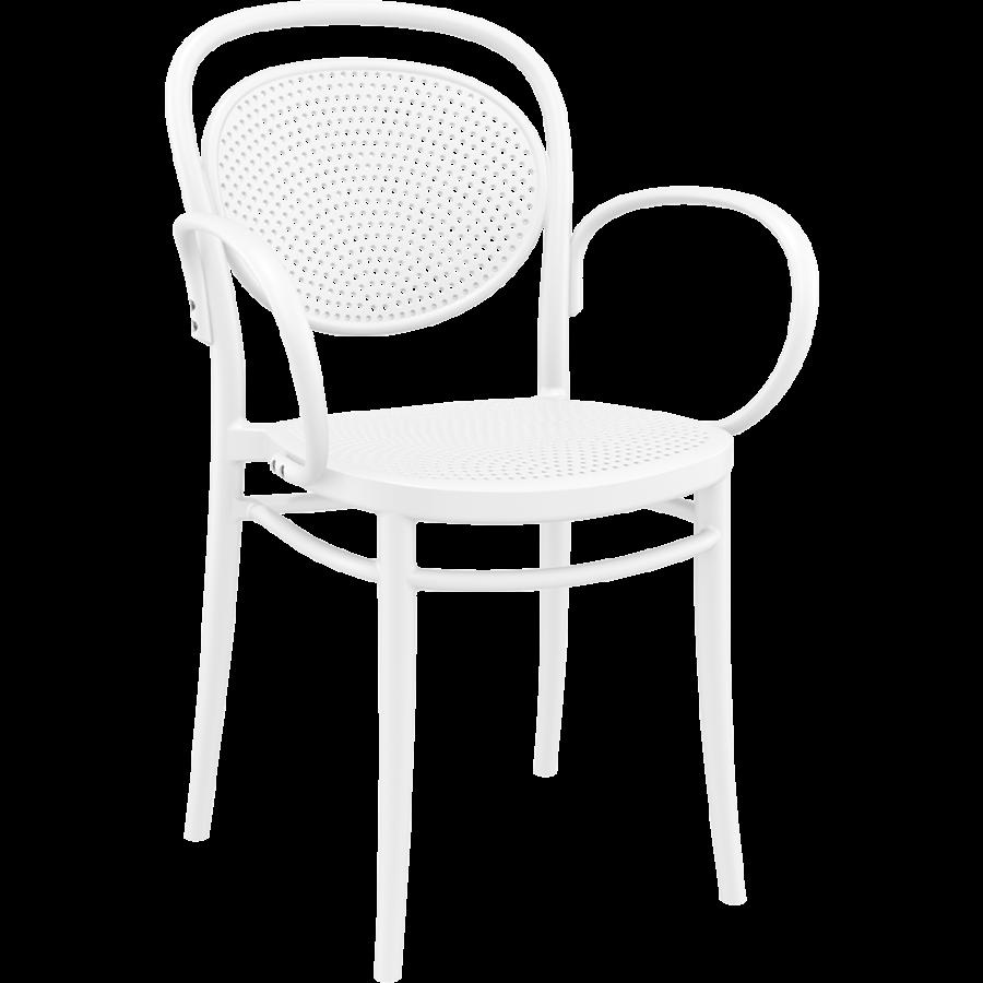 Tuinstoel - Stapelbaar - Wit - Marcel XL - Siesta-1
