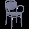 Siesta  Tuinstoel - Stapelbaar - Donkergrijs - Marcel XL - Siesta