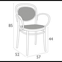 thumb-Tuinstoel - Stapelbaar - Taupe - Marcel XL - Siesta-10