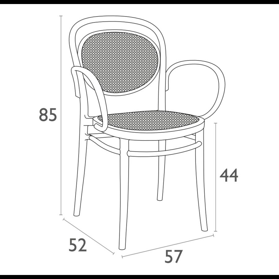 Tuinstoel - Stapelbaar - Taupe - Marcel XL - Siesta-10