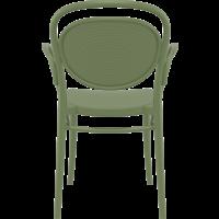 thumb-Tuinstoel - Stapelbaar - Olijf Groen - Marcel XL - Siesta-5