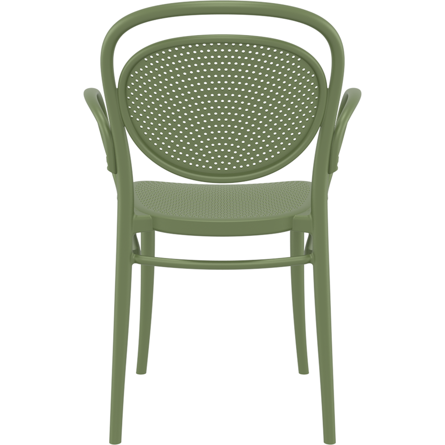 Tuinstoel - Stapelbaar - Olijf Groen - Marcel XL - Siesta-5