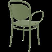 thumb-Tuinstoel - Stapelbaar - Olijf Groen - Marcel XL - Siesta-6