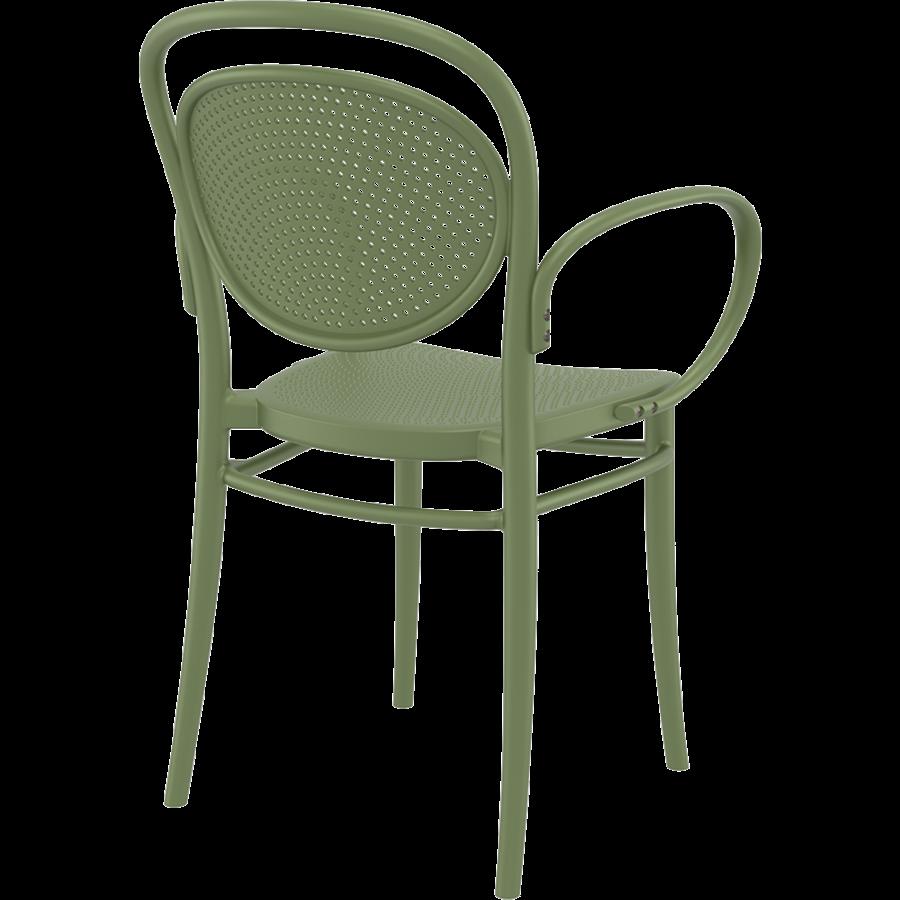 Tuinstoel - Stapelbaar - Olijf Groen - Marcel XL - Siesta-6
