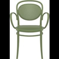 thumb-Tuinstoel - Stapelbaar - Olijf Groen - Marcel XL - Siesta-2