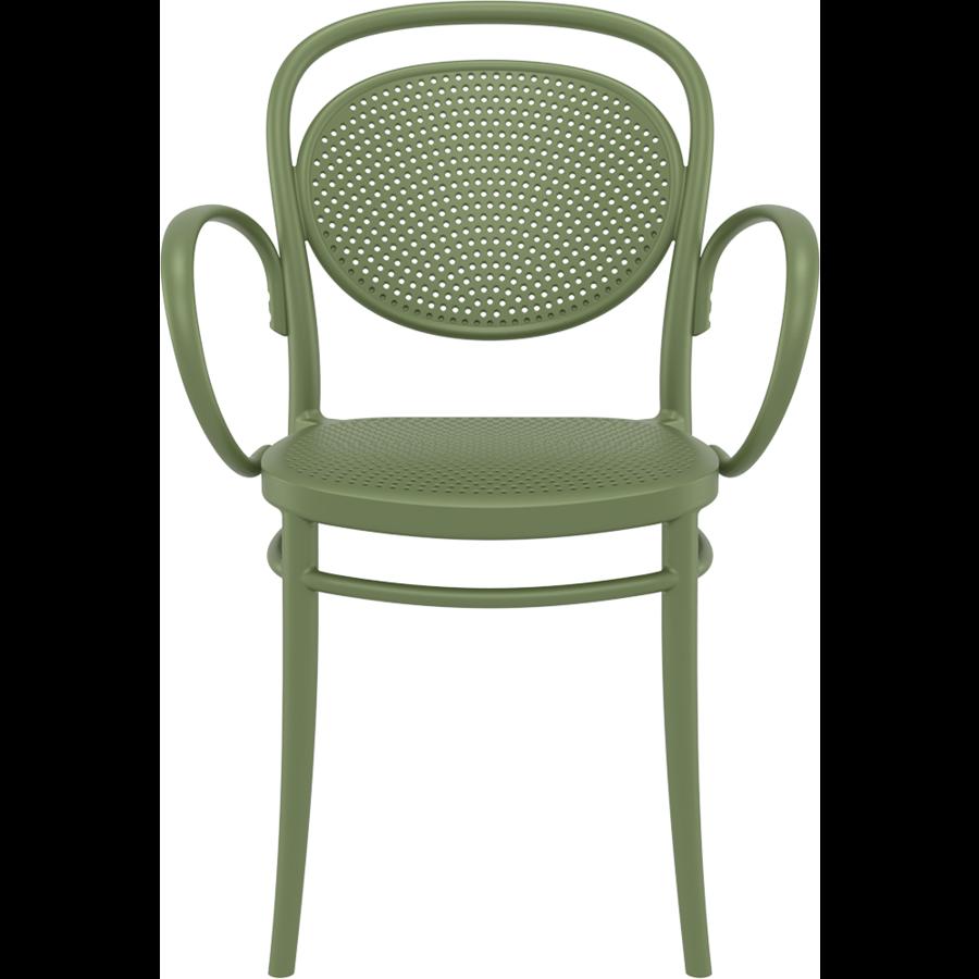 Tuinstoel - Stapelbaar - Olijf Groen - Marcel XL - Siesta-2