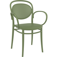 thumb-Tuinstoel - Stapelbaar - Olijf Groen - Marcel XL - Siesta-1