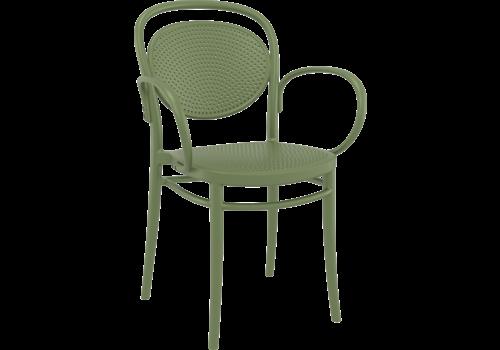 Tuinstoel - Stapelbaar - Olijf Groen - Marcel XL - Siesta