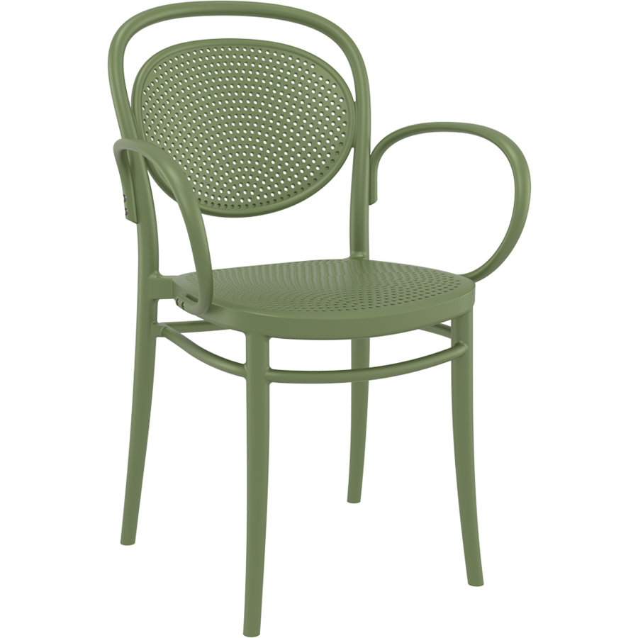 Tuinstoel - Stapelbaar - Olijf Groen - Marcel XL - Siesta-1