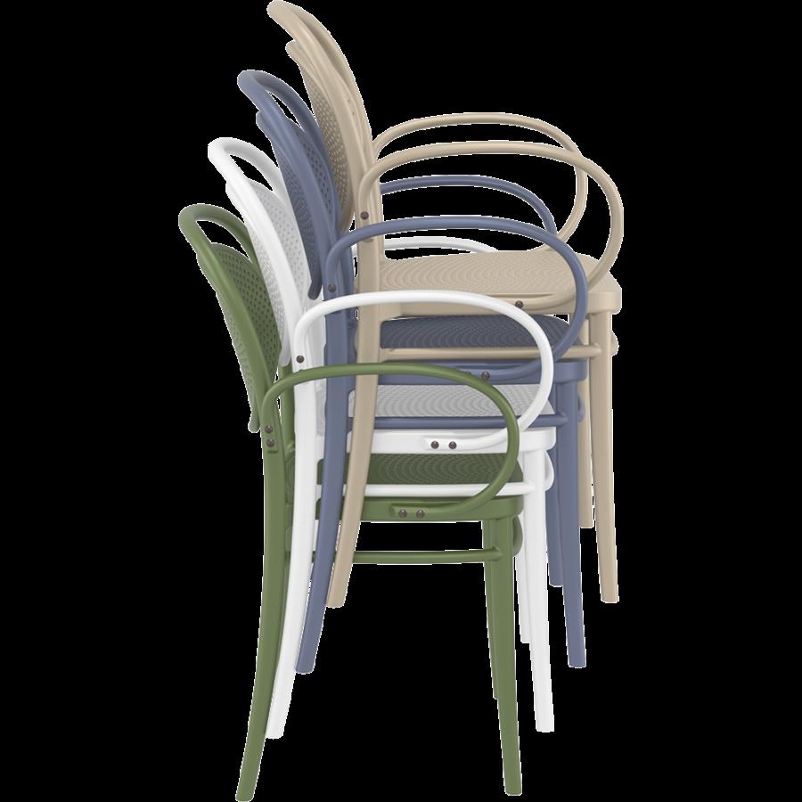 Tuinstoel - Stapelbaar - Olijf Groen - Marcel XL - Siesta-8