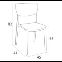 thumb-Tuinstoel - Stapelbaar - Wit - Monna - Siesta-10