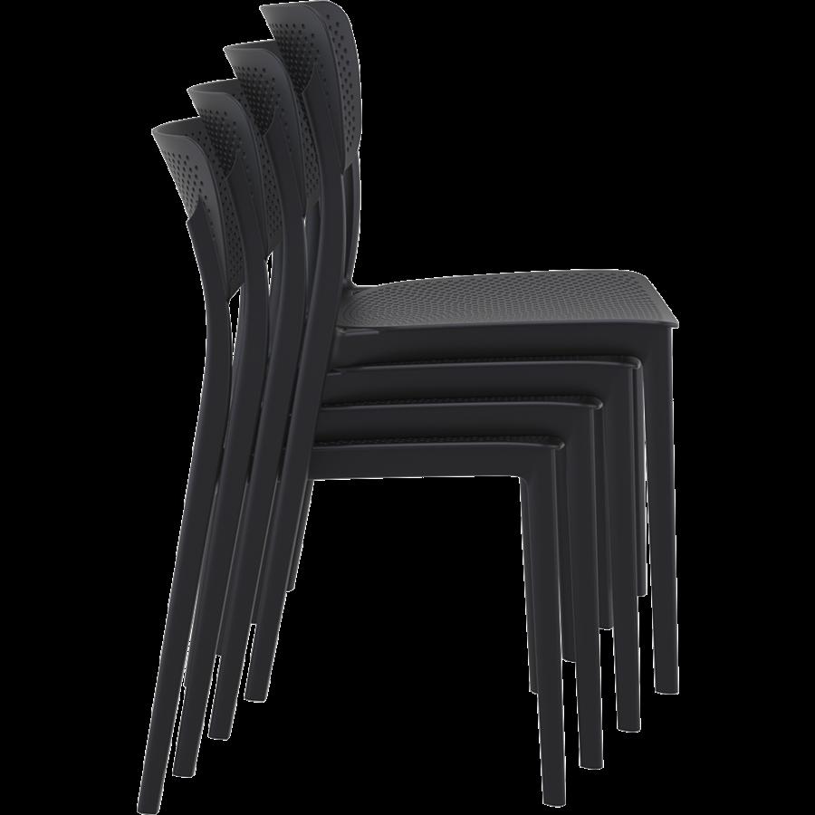 Tuinstoel - Stapelbaar - Zwart - Lucy - Siesta-8