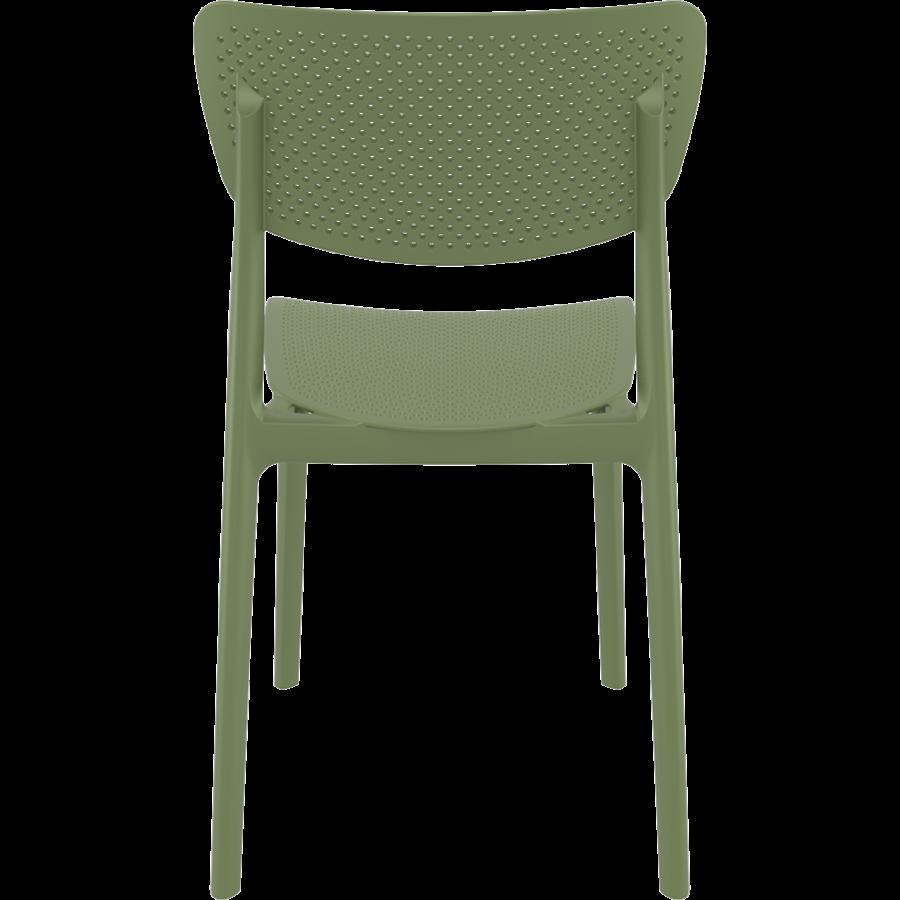 Tuinstoel - Stapelbaar - Olijf Groen - Lucy - Siesta-5